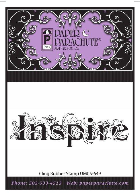 Paper Parachute Rubber Stamp - UMCS649