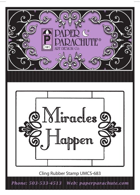 Paper Parachute Rubber Stamp - UMCS683