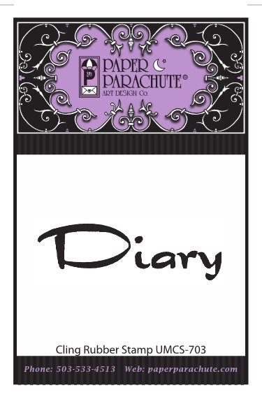 Paper Parachute Rubber Stamp - UMCS703