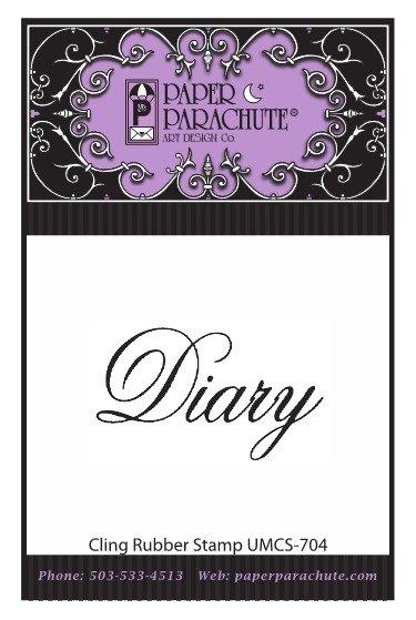 Paper Parachute Rubber Stamp - UMCS704