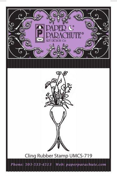 Paper Parachute Rubber Stamp - UMCS719