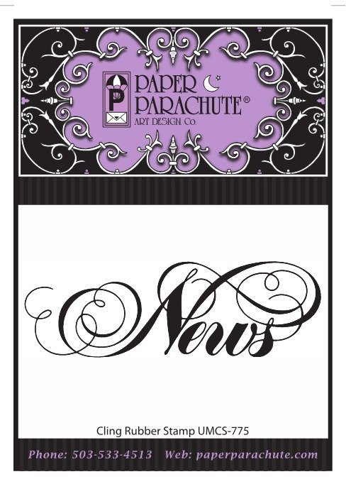 Paper Parachute Rubber Stamp - UMCS775