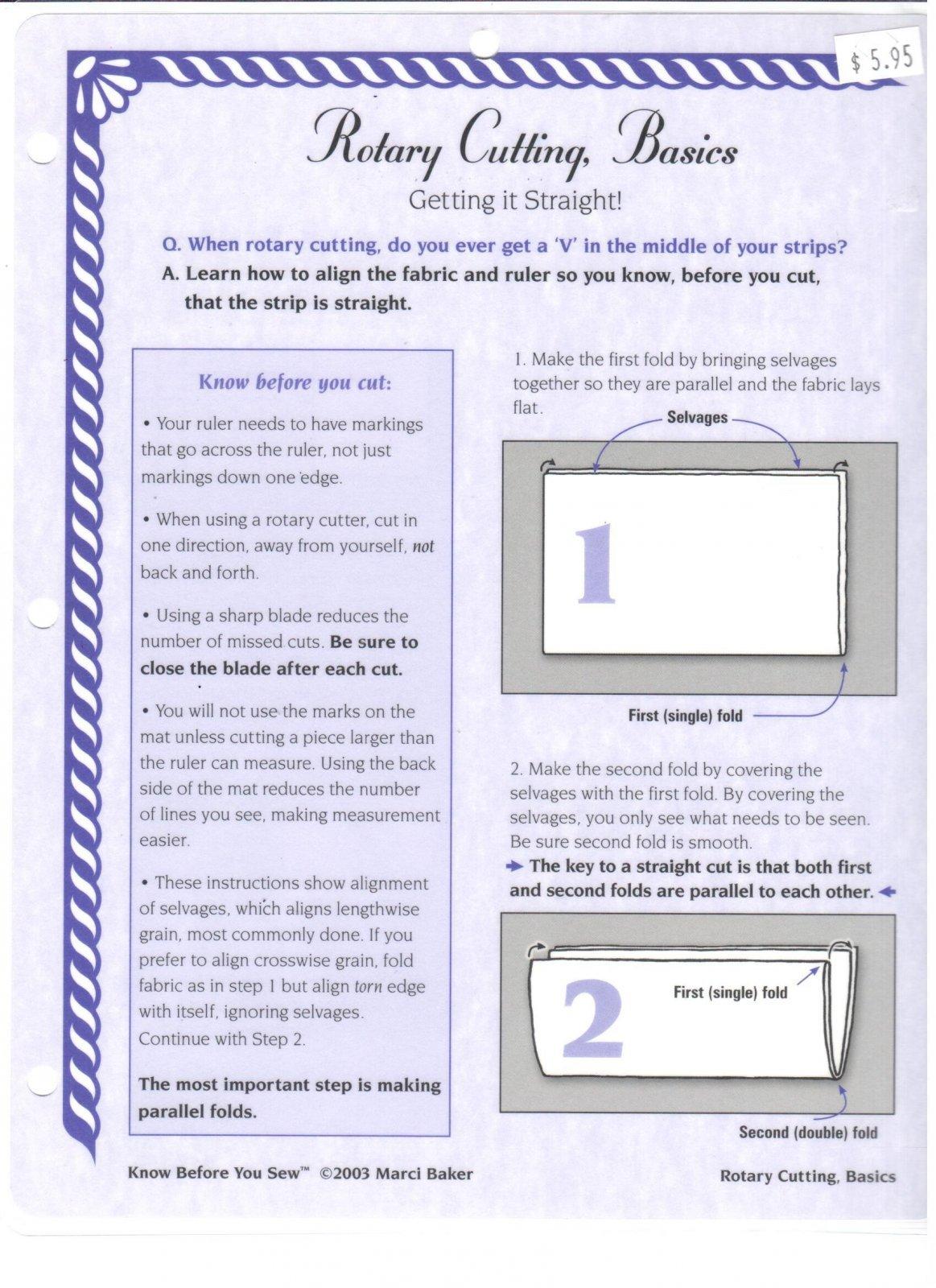 Rotary Cutting, Basics