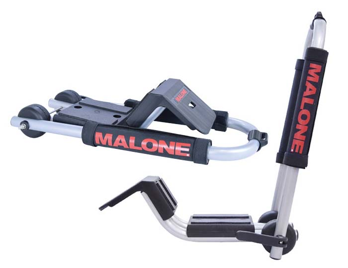 Malone Downloader Kayak Carrier with Tie-Downs - J-Style - Folding - Side Loading
