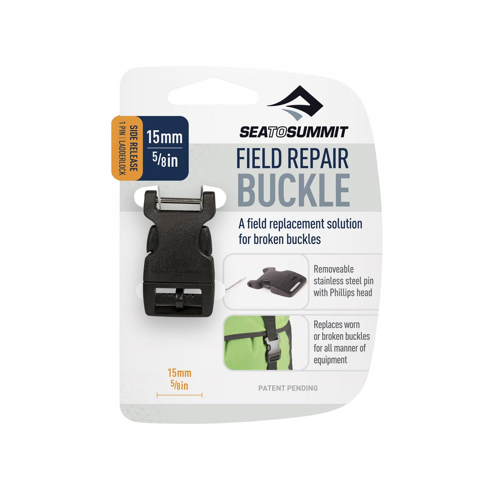 Sea to Summit Side Release Field Repair Buckle with Removable Pin