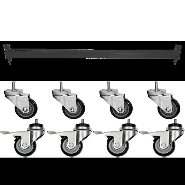 Suspenz Caster & Adjustable Crossbar Set (for single sided rack)