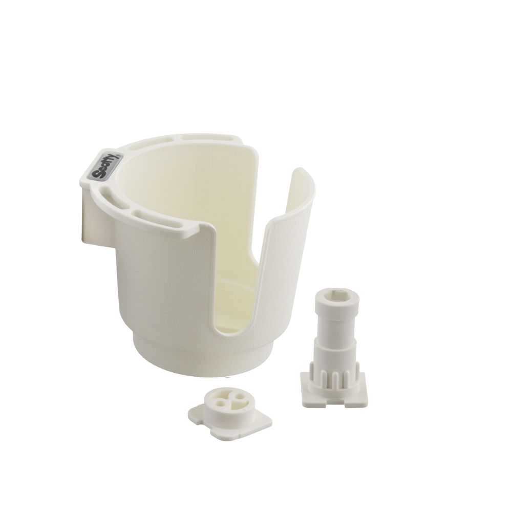 Scotty No. 311-WH White Cup Holder with Bulkhead / Gunnel Mount and Rod Holder Post Mount
