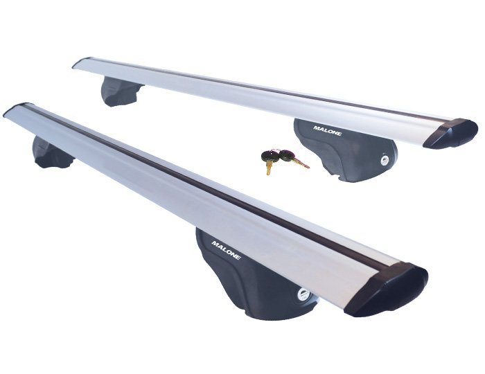 Malone AirFlow2 Roof Rack - Aero Crossbars - Raised, Factory Side Rails - Aluminum - 50, 58 and 65