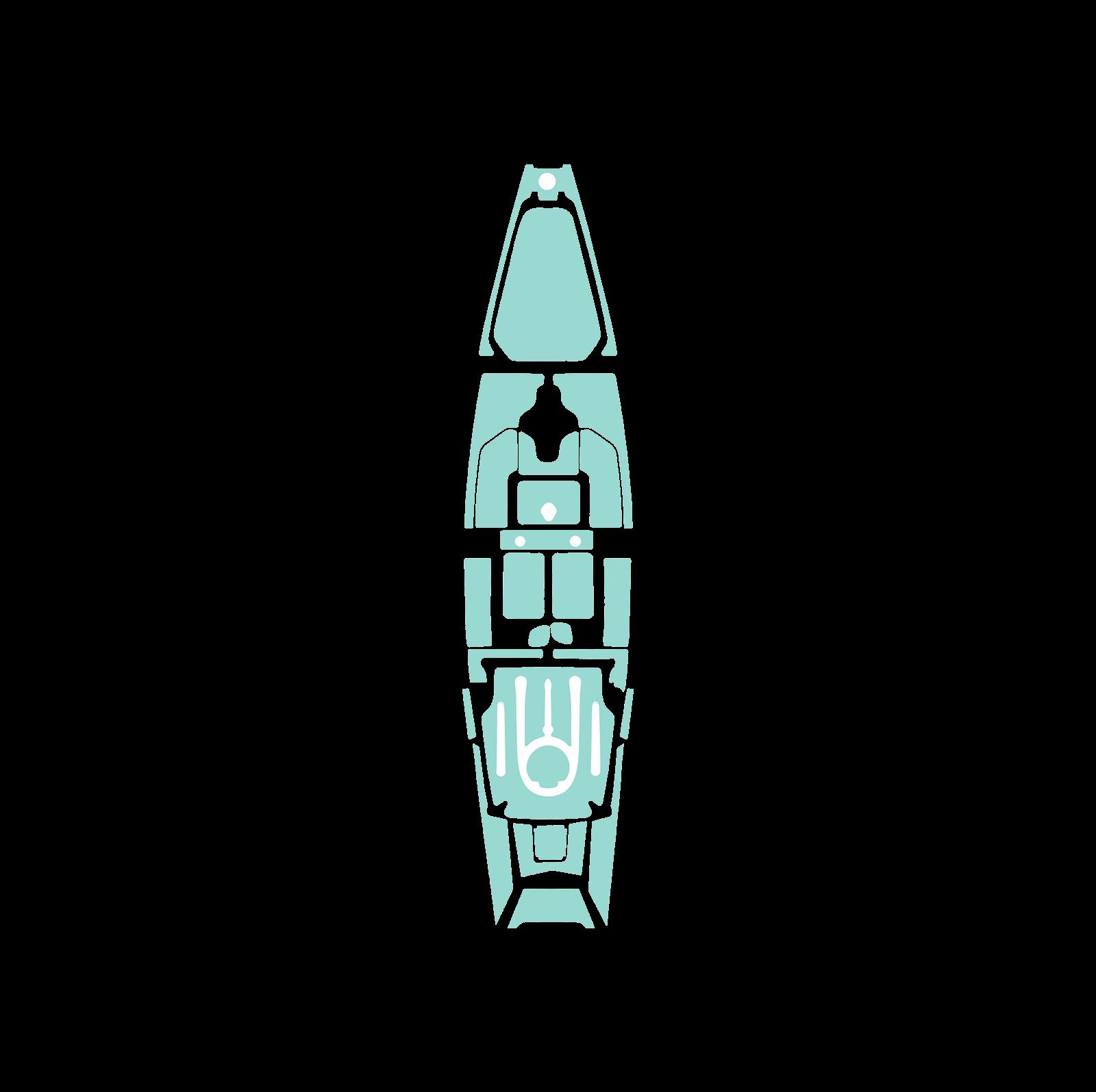 Hobie Pro Angler 14 Complete Elite Marine 6MM Mat Kayak Kit 2013-2016