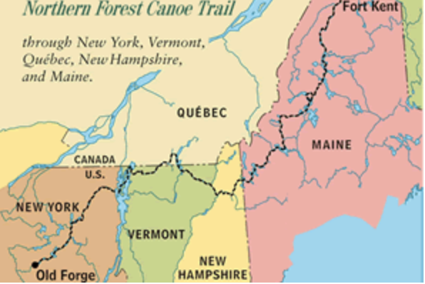 northern forest canoe trail map