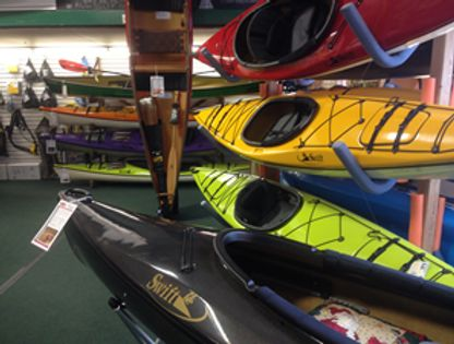 inside canoe and kayak shop