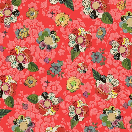 Collage Flower Dark Coral