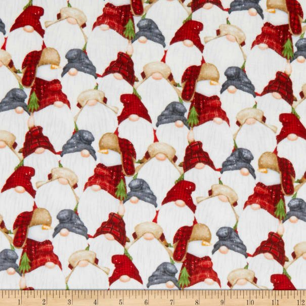 Gnomies (Flannel) by Shelly Cominsky All over Gnomes