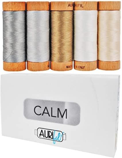 Aurifil Thread  100% Cotton   80 wt.  CALM 300 yd spools