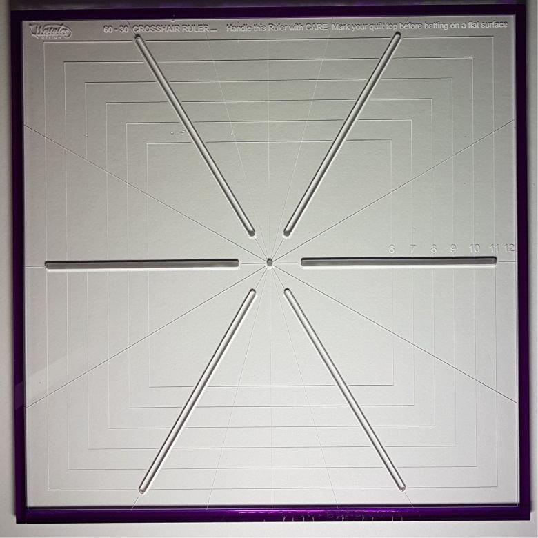 6 pt. Cross Hair Square (or Grid) (or Ruler)