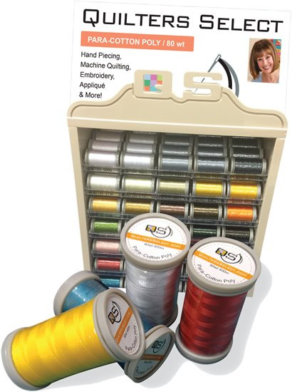 Quilters Select Thread Para- Cotton/Poly  80 wt.  400 m spools
