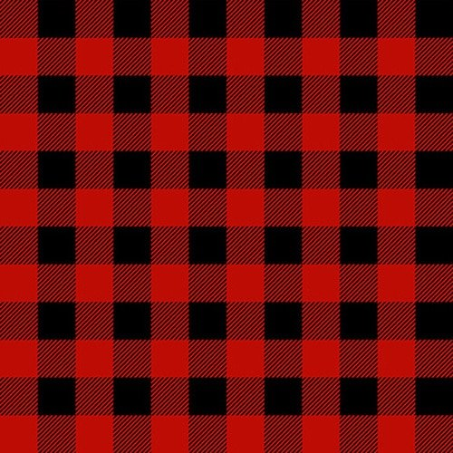 Gnomies by Shelly Cominsky for Henry Glass Fabrics - Red/Black Check