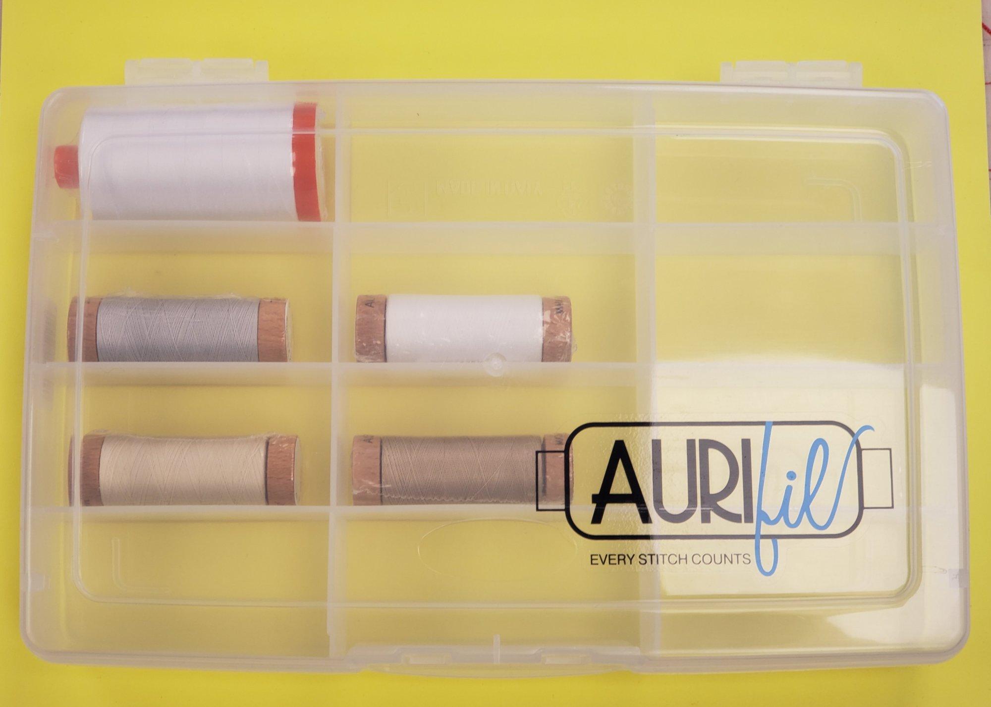 Aurifil Thread Box with Thread