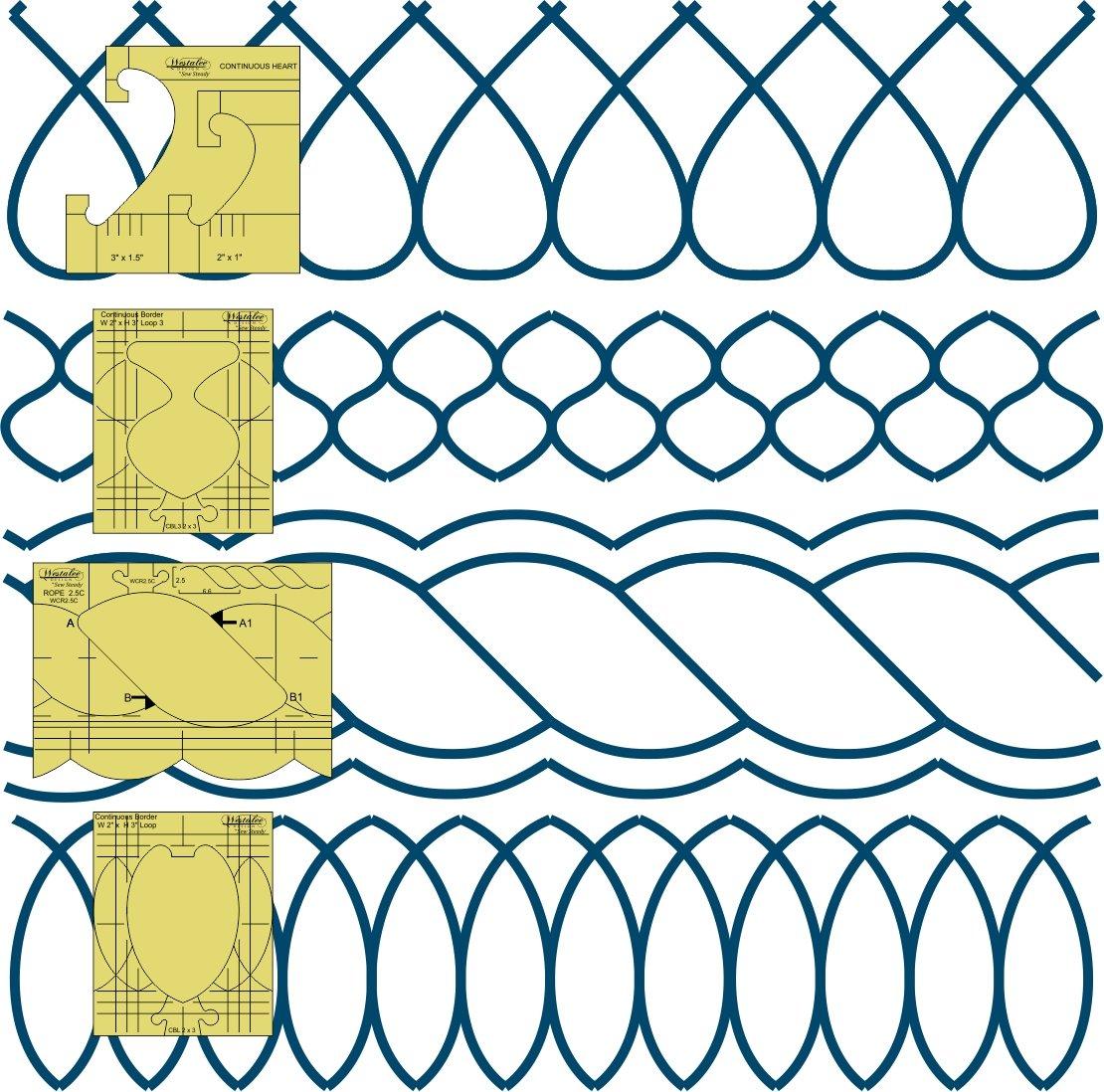 Westalee Border Sampler Template Set-LS