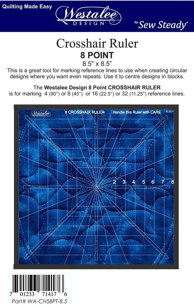 Crosshair Ruler 8pt - 8.5 x 8.5