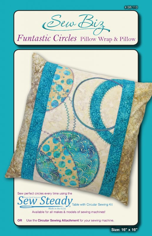 SB  113   Funtastic Circles - Pillow Wrap & Pillow