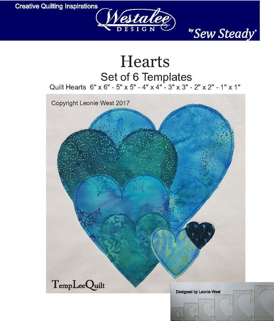 Hearts Template HS -6 pieces