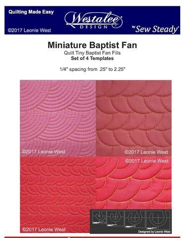 Minature Baptist Fan Template Set