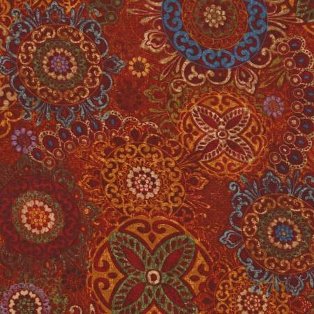 Sangria Medallian Fabric