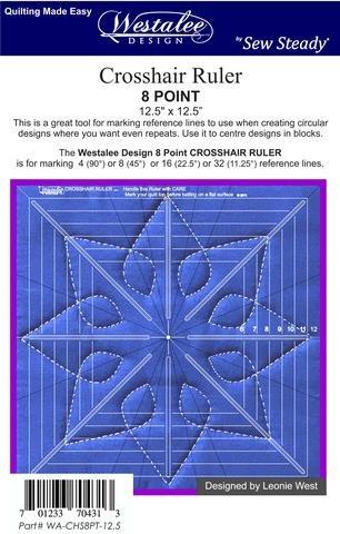 Crosshair Ruler 8 pt 8.5 x 8.5