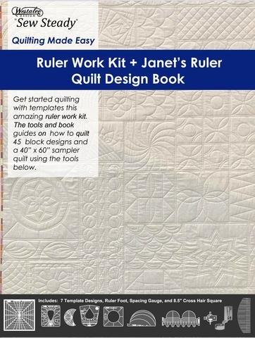 Ruler Work Kit & Janet's Ruler Quilt Design Book-MEDIUM SHANK