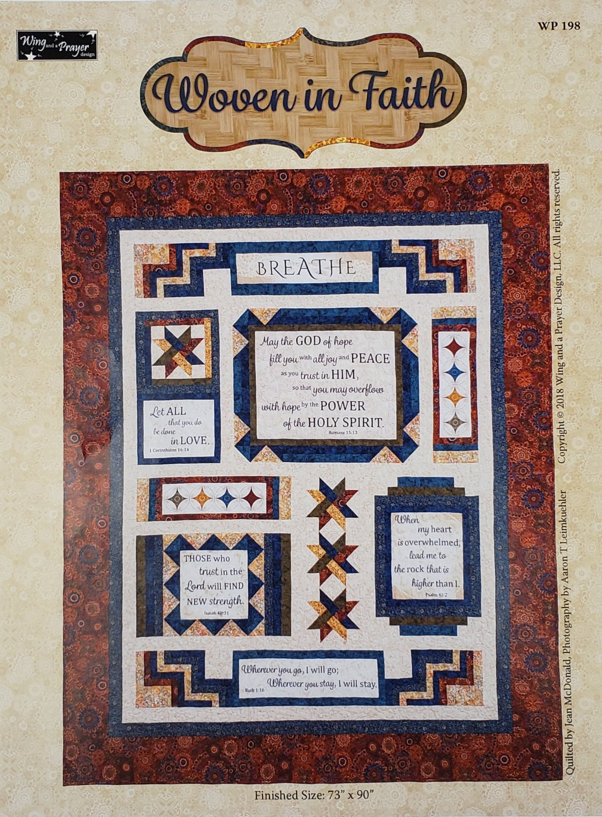 Woven in Faith-Pattern & Fabric Kit