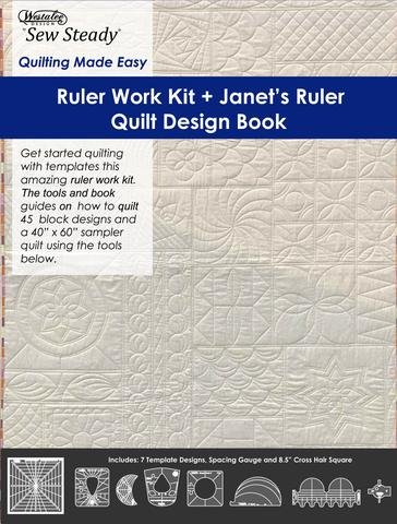Ruler Work Kit & Janet's Ruler Quilt Design Book-HIGH SHANK-NO FOOT-USE WITH BERNINA #72 FOOT