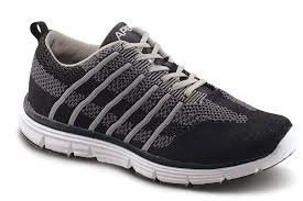 Apex Knit Lace Up Sneaker- Black/Grey