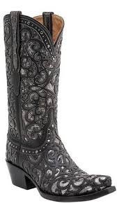 Lucchese Sierra - Black and Pewter
