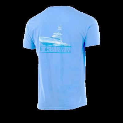 Huk Run and Gun Shirt- Light Blue Heather