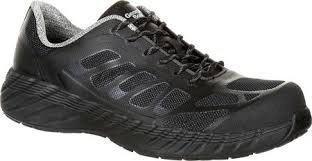 Georgia Boot Reflex Comp Toe Athletic Shoe- Black