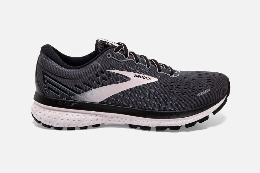 Brooks - Women's - Ghost 13 - Black/Pearl/Hushed Violet