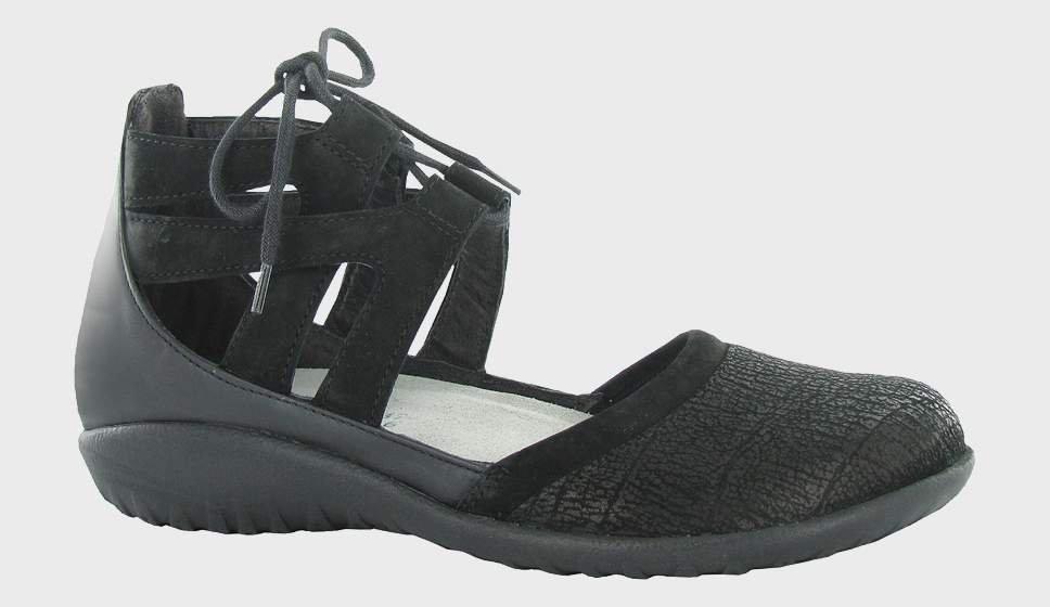 Naot Kata - Black Crackle Velvet
