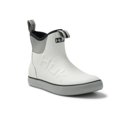 HUK - Men's Rouge Wave Rubber Boots - White/Grey