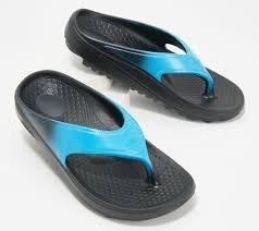Spenco Fusion Flip Flops- Hawaiian Blue Fade