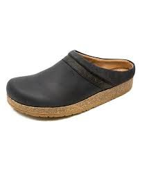 Stegmann Leather Cork Clog- Black