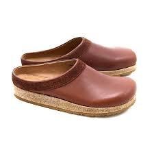 Stegmann Leather Cork Clog- Brown