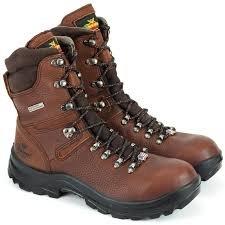 Thorogood Omni 8 Inch Waterproof Steel Toe- Brown (Mens)