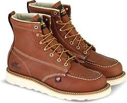 Thorogood Moc Toe Brown Wedge Non-Safety 6 (Mens)814-4203
