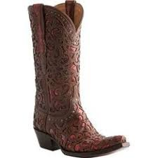 Lucchese Sierra - Whiskey & Red