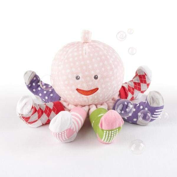 Plush octopus with socks PINK