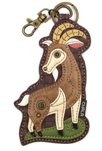 Chala key fob/coin purse with goat
