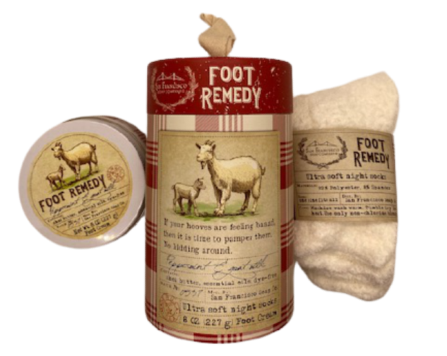 Foot Remedy Peppermint Goat Milk Set