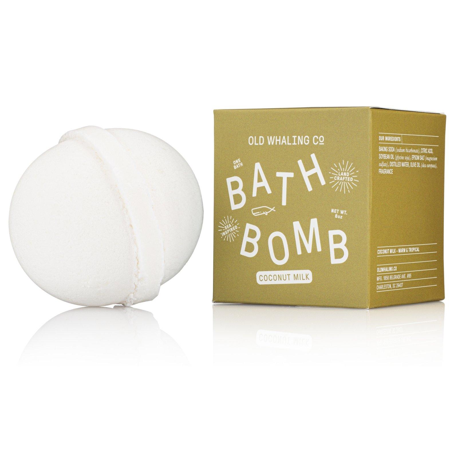 Bath Bomb Coconut Milk 8 oz