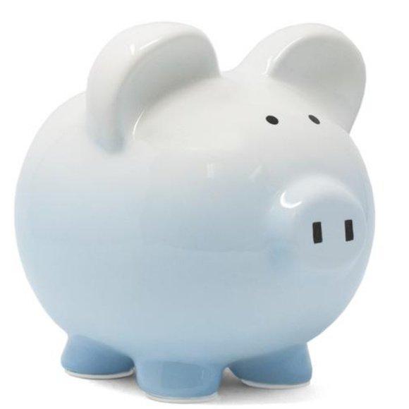 Bank pig blue ombre